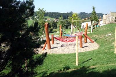 Außenansicht Spielplatz - Kindergarten St. Blasius in Altusried