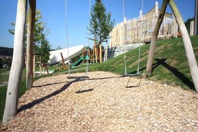 Außenansicht Spielplatz - Kita Sankt Blasius in Altusried