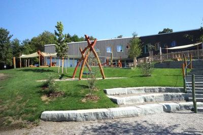Außenansicht Spielplatz - Kita St. Blasius in Altusried